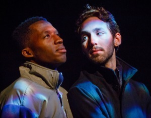 ND Theatre NOW - Eric Ways & Anthony Murphy in Out of Orbit by Lucas Garcia - photo by Peter Ringenberg