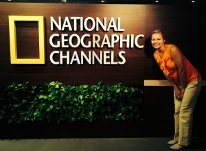 FTT major Caroline Clark at her internship with National Geographic in Washington, DC