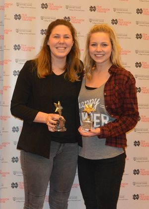 Kelly Quinn and Caroline Clark, Notre Dame Student Film Festival, Audience Choice Award 2016