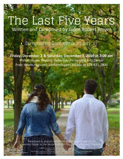 The Last Five Years flyer