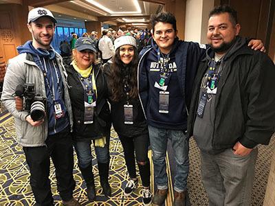 Javi Zubizarreta, Armando Sanchez and parents