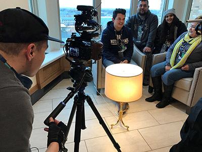 Vincent Augusto on camera filming El Primero
