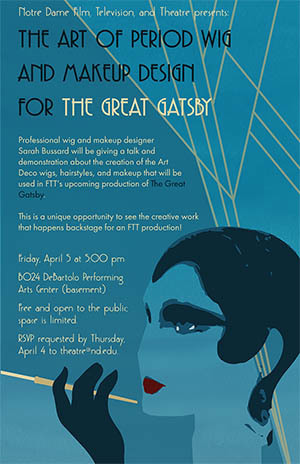 Period Wig and Makeup Design for The Great Gatsby
